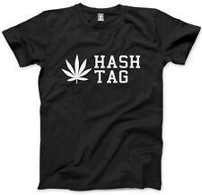 Hash Tag Weed Cannabis Mens Unisex T-Shirt