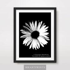 BLACK WHITE FLOWER Art Print Poster A4 A3 A2 Photography Home Decor Design Plant