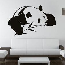 Sommeil panda avec Bambou Mur Art Sticker (as10088)