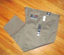 Roundtree Mens Black Microfiber Pleat Cuffed Travel Pants 38x36 NWT