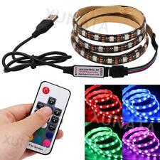 0.5M-5M RGB 5050 LED Strip Light Waterproof USB TV PC Backlight+ Remote Control