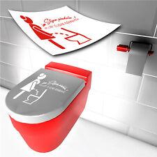 WC Deckel Aufkleber Im Sitzen pinkeln *TOP* Sticker Bad Toilette