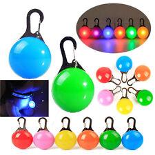 LED Pet Dog Collar Cat Glowing Night Light Safety Clip Flashing Neon Pendants HL