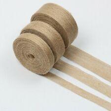 10M Hemp Rope Jute Webbing Tape Diy Craft Straps Burlap Ribbon Sewing Trim Decor