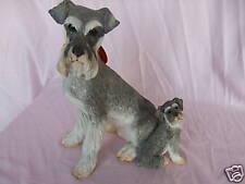 Statue de collection COUNTRY ARTISTS - chien SCHNAUZER avec 1 CHIOT