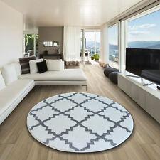 incroyable épais Tapis Modernes brouillon Treillage blanc gris F343 cercle