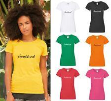 Sunkissed T-Shirt-Damas Sexy Top De Vacaciones Verano Vibes feliz