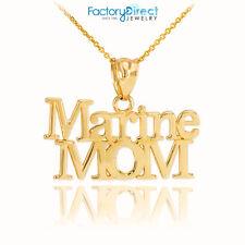 10k Gold Marine Mom Pendant Necklace