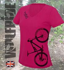 Señoras Ciclismo, Bicicleta de montaña, de manga larga MTB DH, wolfride Top, que absorbe Jersey
