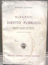 ELEMENTI DI DIRITTO PUBBLICO Roberto Lucifredi Dante Alighieri Manuale Giuridica