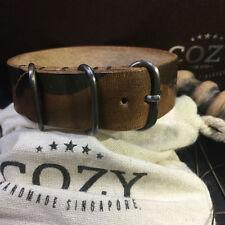 Handmade Military 101 Leather Camo ZULU / NATO Strap (20mm, 22mm, 24mm, 26mm)
