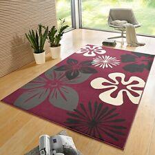 Design Velours Tapis Flora Violet 102401