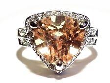 Damen Ring Ophelia, Metall-Legierung, rhodiniert, AAA-Zirkonia