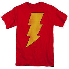 Shazam! DC Comic Hero Power Bolt Logo Symbol Vintage Style Tee Shirt Adult S-3XL