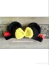 Mouse Ears Crochet Headband Infant Child Adult Disneyland Hair Mickey Inspired