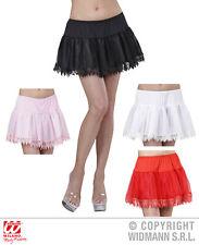 Enaguas, Enagua de encaje, blanco, rosa, negro, Rojo Mujer 36-38