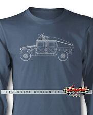 HUMVEE Hummer H1 Slantback Military Long Sleeves T-Shirt Multiple Colors & Sizes
