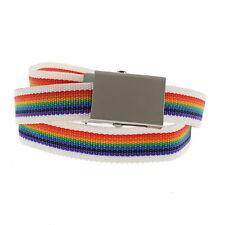 Zac's alter ego ® Arco Iris Deslizador cinturón de lona rayada