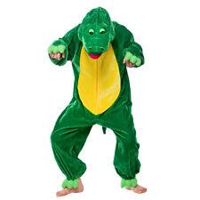 Green Crocodile Costume Kids Wild Jungle Animal Jumpsuit Fancy Dress Outfit