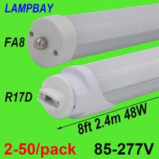 2-50/pack LED Tube Bulb 8FT 2.4M FA8 R17D(HO) Lamp T12F96 Fluorescent Light 110V