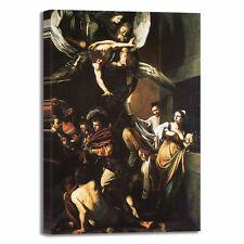 Caravaggio sette opere di misericordia quadro stampa tela dipinto arredo casa