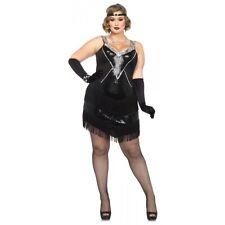 ed3807e81c8 Flapper Costume Adult Roaring 20s Gatsby Girl Halloween Fancy Dress