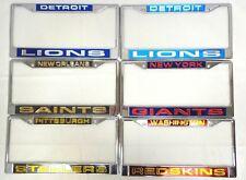 NFL Laser License Plate Frames