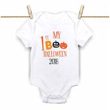 My First 1st Halloween 2019 Boo Orange Pumpkins Grow,Bodysuit, Vest  New
