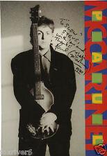 PAUL McCARTNEY Signed Programme Cover - Singer / Composer - Beatles preprint