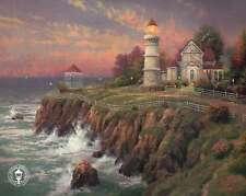 Victorian Light - Lighthouse, Gazebo, Ocean etc - Thomas Kinkade Dealer Postcard