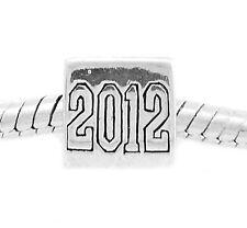 AUTHENTIC STERLING SILVER 2012 GRADUATION GRAD EUROPEAN BEAD