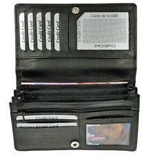 8c8d7b24bb5e5 XXL Geldbörse mit RFID-Schutz feines Rindleder Portemonnaie Geldbeutel Damen