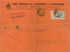 ITALIA REGNO  ENTI PARASTATALI su busta: GIUNTA PROV COLLOCAMENTO DISOCZUPAZIONE
