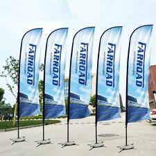 Custom Your Own Advertising Swooper Flutter Feather Flag Kit  Sign Banner