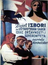 85170 TITO YUGOSLAVIA ELECTION RED STAR COMMUNISM Decor WALL PRINT POSTER CA