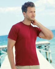 Mens Short Sleeve T-Shirt Fruit Of The Loom Original Full Cut Tee All  Colours