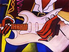 JIMI HENDRIX PRINT poster fender guitar band of gypsies cd electric ladyland art