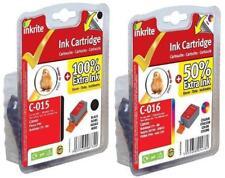 2 X Canon bci-15bk bci-15c Compatible inkrite los depósitos de tinta