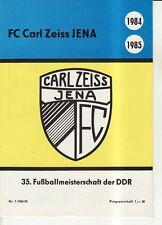 OL 84/85 FC Carl Zeiss Jena - Infos zur 35. Meisterschaft