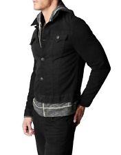 True Religion Jeans Denim Jacket Danny Core Slim Black Dark Metal MAXY84CR0