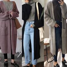 Women Oversized Long Sleeve Knitted Sweater Outwear Jumper Cardigan Coat Jacket