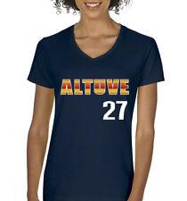 "V-NECK Jose Altuve Houston Astros ""Altuve 27""  Ladies T-shirt"