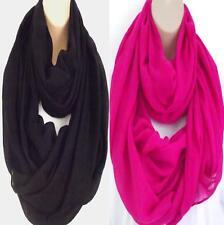Brand New Colours! Large Circle Loop Infinity Scarf Snood - Black & Pink