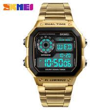 SKMEI Mens Watches Full Steel Fashion Digital Wristwatch Relogio Masculino 1335