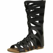 Mia Kids Little/Big Girl's Jane Black Gladiator Sandals Shoes