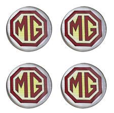 MG Burgundy Logo Self Adhesive Set of 4 Gel Wheel Centres Choice of Sizes