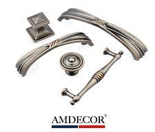 Amdecor Royal Antique Ruby Silver Cabinet Pull Handle knob Hardware designer A
