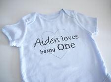 PERSONALISED baby boy clothing 1st birthday babygrow/vest first Birthday gift