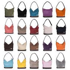 LiaTalia Single Handle Real Italian Suede Leather Medium Bucket Handbag - Denise