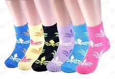 New 6-12 Pairs Womens Soft Cozy Fuzzy Warm Leaf Weed Marijuana Socks Size 9-11